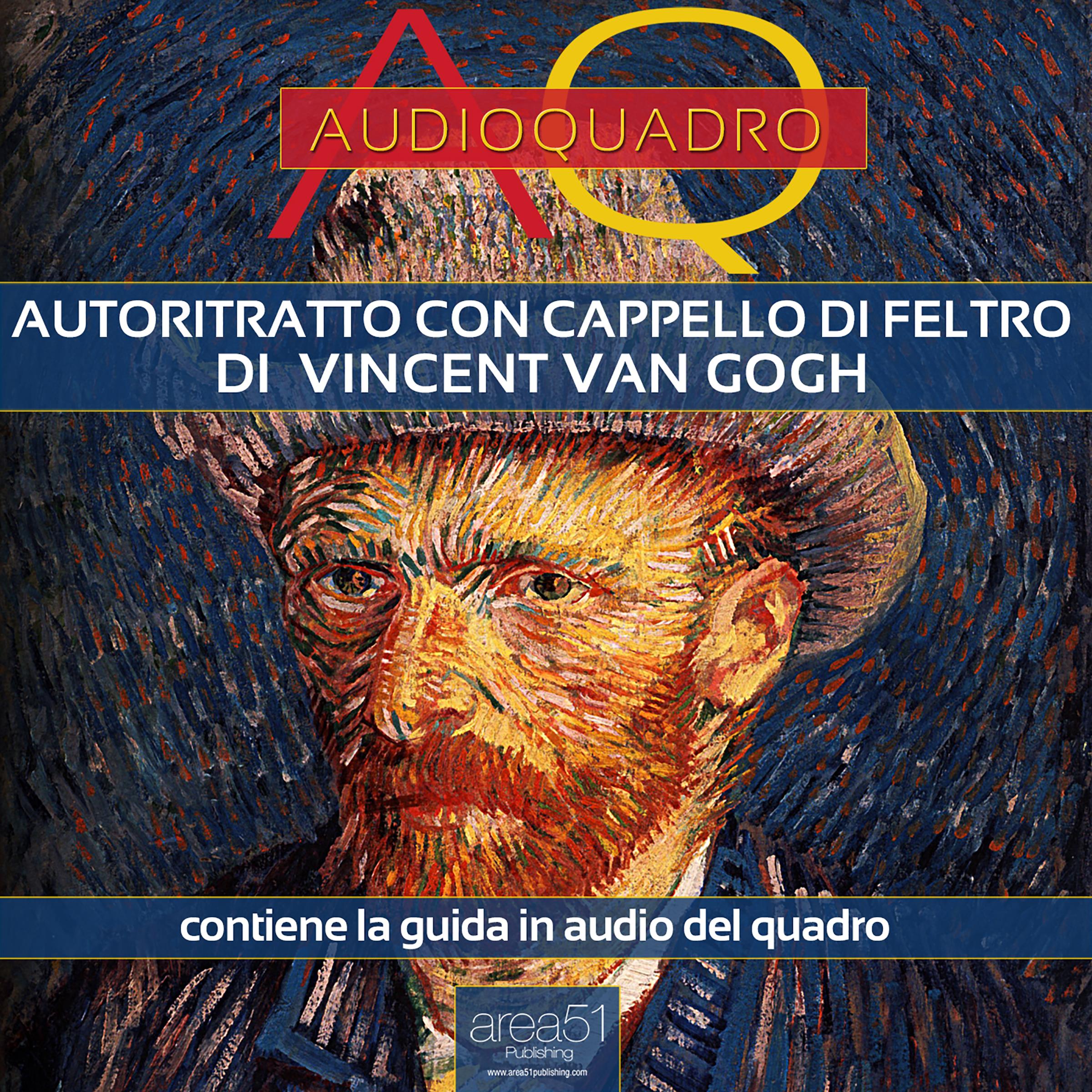 Autoritratto con cappello di feltro di Vincent Van Gogh. Audioquadro-0